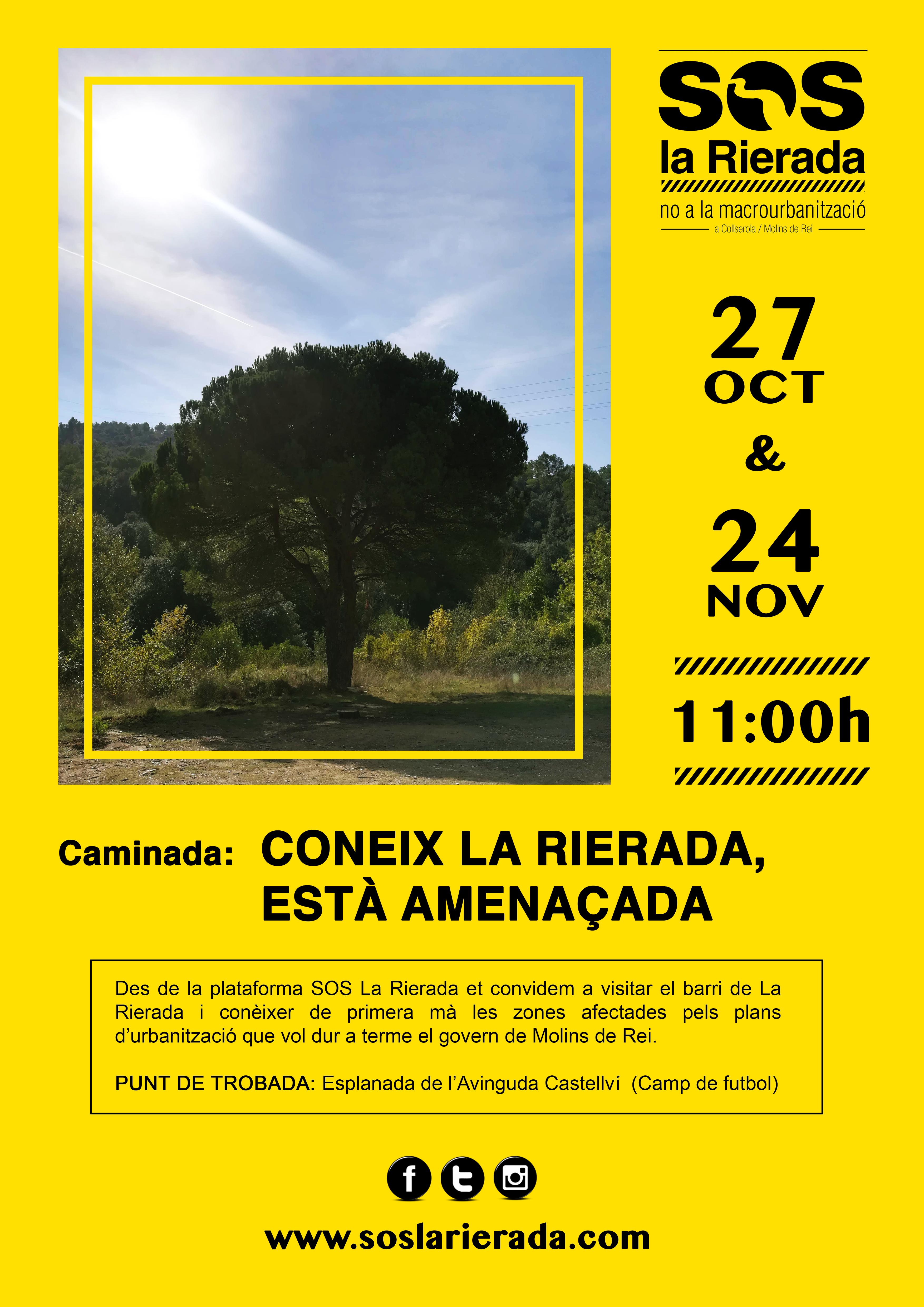 CARTELL SOS LA RIERADA CAMINADES