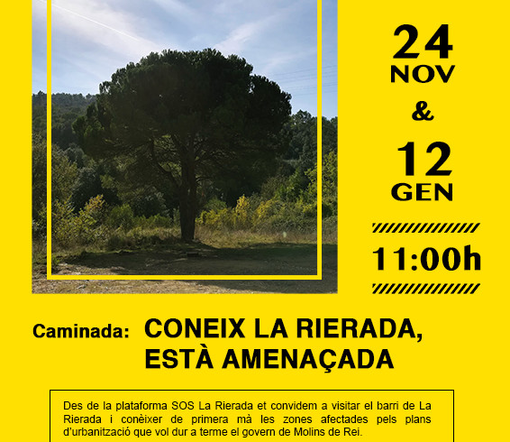 CARTELL SOS LA RIERADA CAMINADES desembre - gener