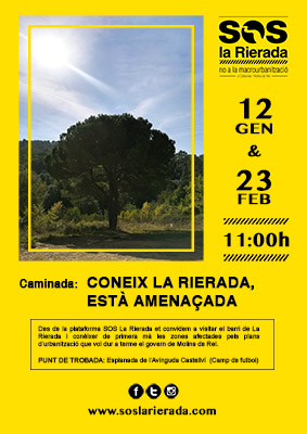 CARTELL SOS LA RIERADA CAMINADES GENER PETIT